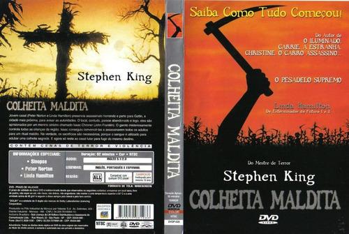 dvd colheita maldita stephen king mestre do terror sem uso
