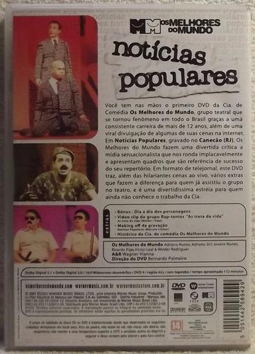 dvd comédia: notícias populares - joseph klimber canecão (a)