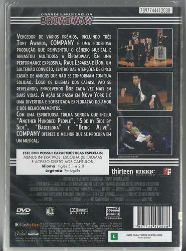 dvd company uma comédia musical - novo - original