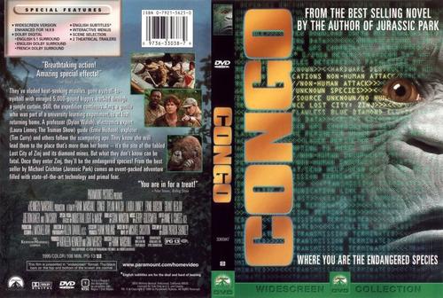 dvd congo 1995 gorilas ciudad perdida de zinj best seller