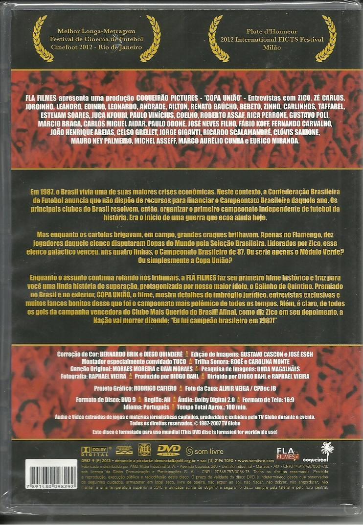 dvd copa uniao flamengo 1987