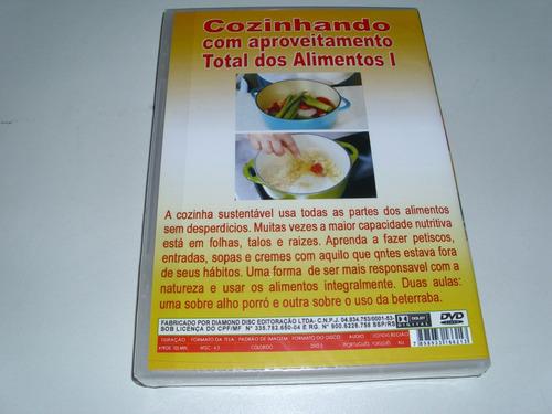 dvd cozinhando com aproveitamento total dos alimentos vol 1
