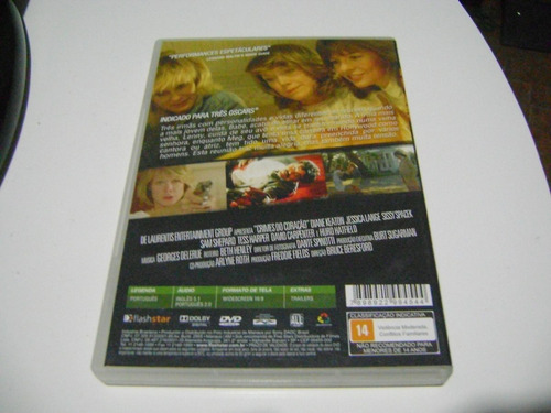 dvd crimes do coraçao diane keaton s.spacek jessica lange