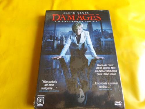 dvd damages / 1ª temporada / 3 discos / glenn close