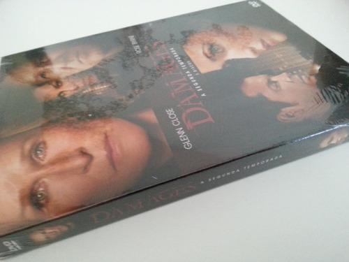 dvd damages - 2ª temporada completa 3 discos - lacrado!!!