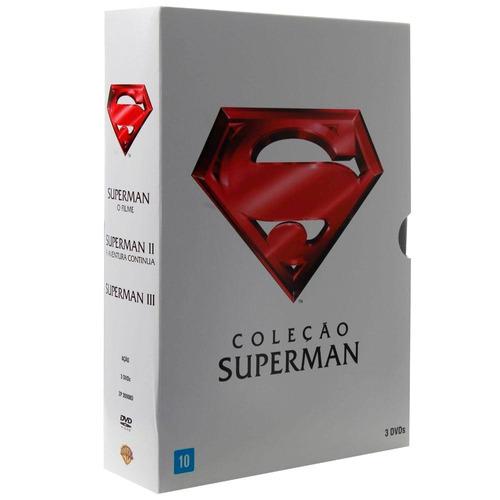 dvd dc comics superman coleção box. + lote de brinquedos