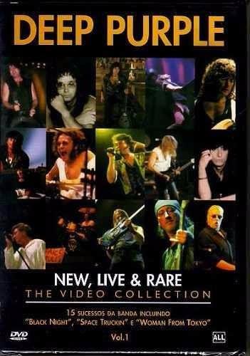 dvd deep purple - new, live & rare r$ 24,90 +frete