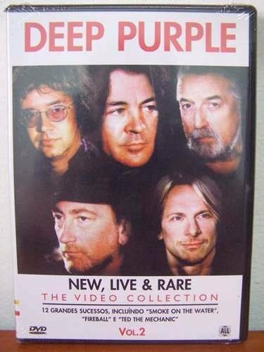 dvd deep purple new, live & rare the video  r$ 14,90 +frete