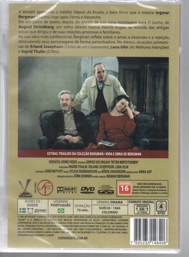 dvd depois do ensaio - versatil - bonellihq cx376 g18