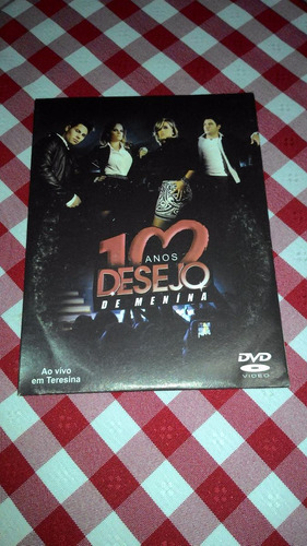 dvd desejo de menina ao vivo 10 anos teresina capa papelão