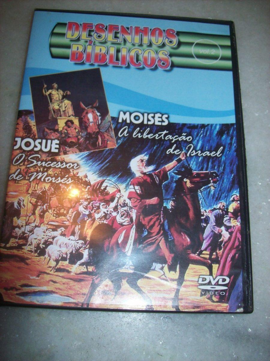 dvd desenhos biblicos volume 2 moises e josue usado r 14