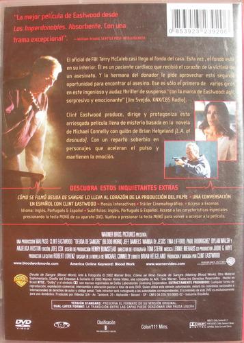 dvd - deuda de sangre - clint eastwood - imp. brasil