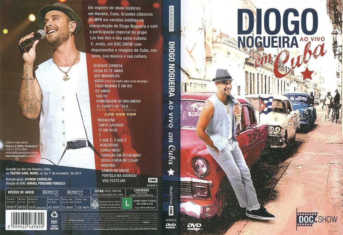 dvd diogo nogueira em cuba - completo