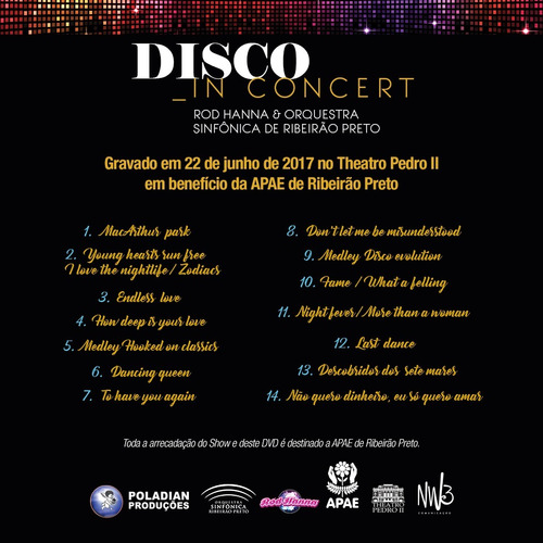 dvd disco in concert  rod hanna & orq. sinfônica rp p/ apae