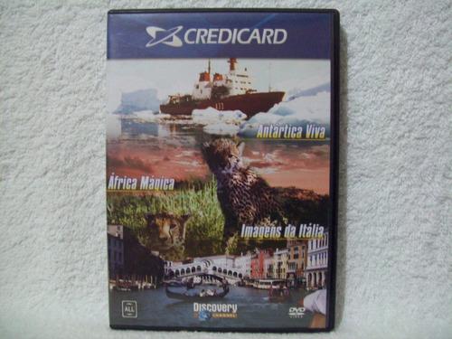 dvd discovery channel- antártica viva, áfrica mágica