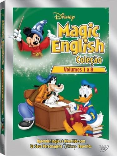 dvd disney magic english - volume 1 ao 8 - box lacrado