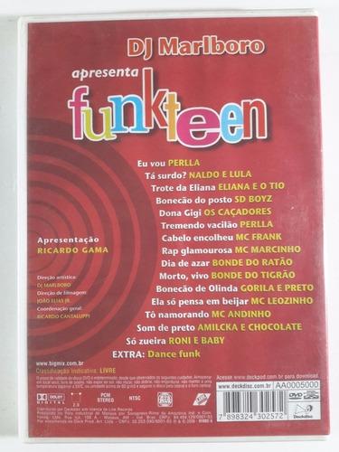 dvd dj malboro apresenta funkteen-encarte-original-usado