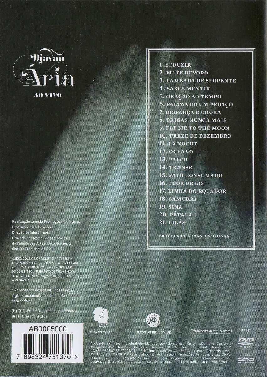 dvd aria de djavan