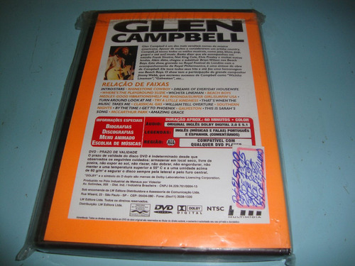 dvd do cantor glen campbell-live.