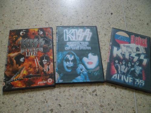 dvd doble de kiss  rock the nation live
