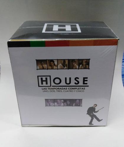 dvd - doctor house 5 temporadas (nuevo sellado)