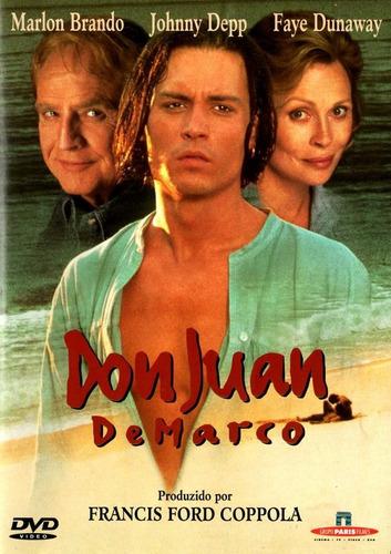 dvd don juan de marco - johnny depp & m. brando - semi-novo