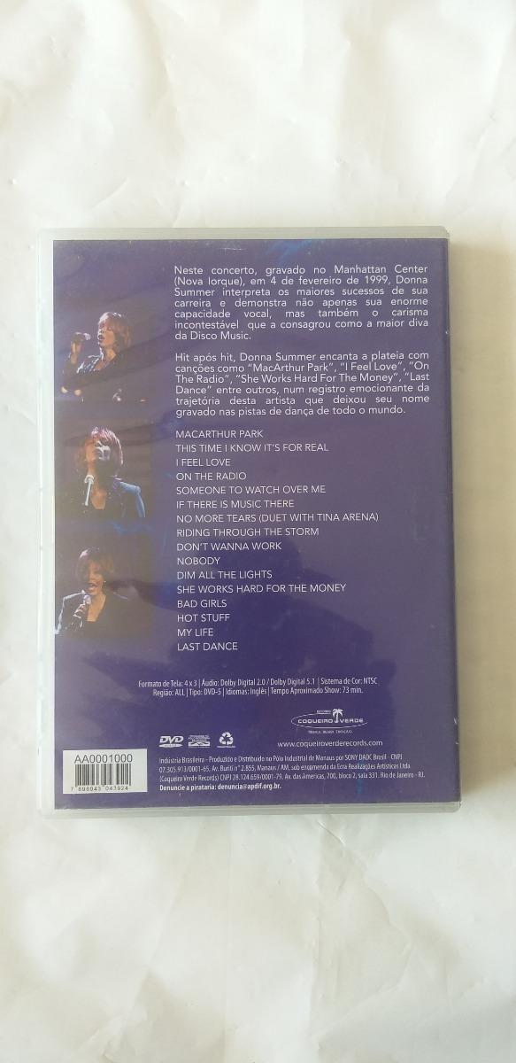 Dvd Donna Summer Live