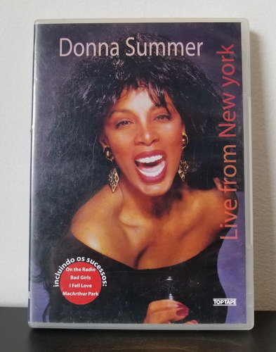 dvd donna summers - live from new york - frete 10,00