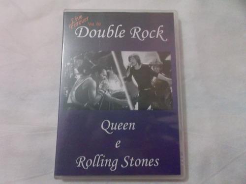 dvd   double rock queen e rolling stones