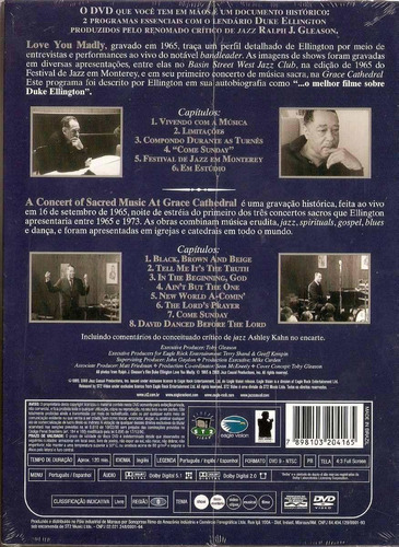 dvd duke ellington - love you madly + concert sacred music