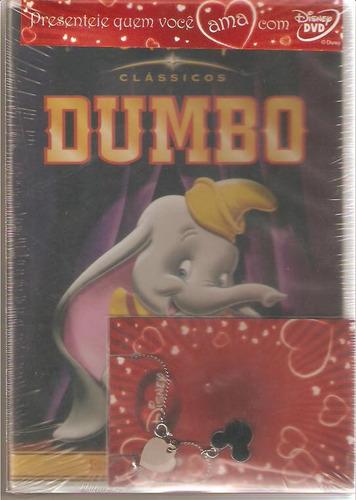 dvd dumbo + colar - 60° aniversário edição limitada - novo**