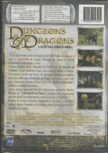 dvd - dungeons & dragons - a aventura começa agora - lacrado