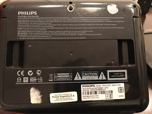 dvd duo philips modelo pd7013/77 negro