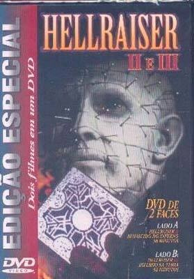 dvd dupla face hellraiser 2 e 3