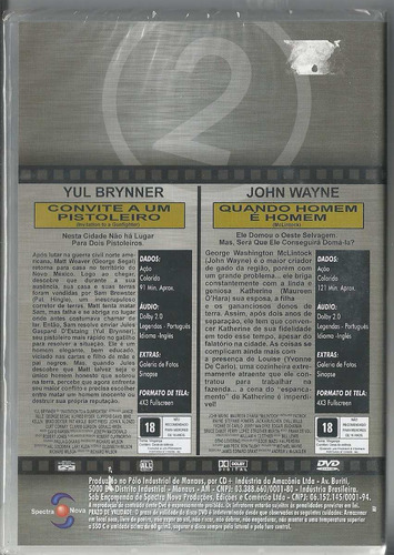 dvd duplex convite a um pistoleiro/ quando um homem é homem