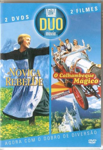 dvd duplo a noviça rebelde / o calhambeque mágico - novo***