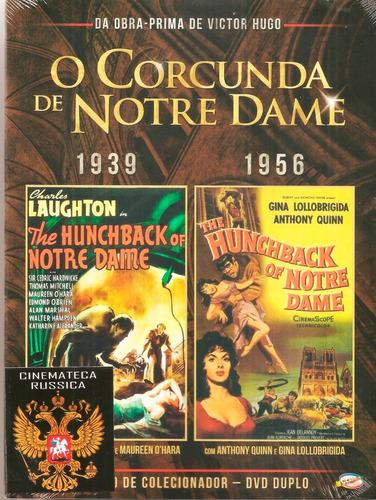 dvd duplo corcunda de notre dame - 2 versões 1939 e 1956 +