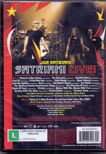 dvd duplo joe satriani - satriani live ! - novo***