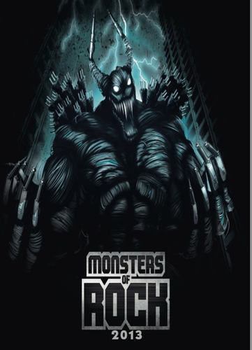 dvd duplo - monsters of rock 2013 - 2° dia