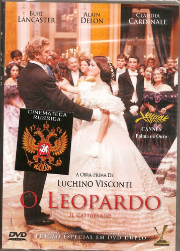 dvd duplo o leopardo, visconti, b. lancaster, c. cardinale +
