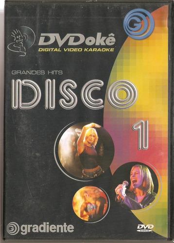 dvd dvdokê - grandes hits disco 1 - novo***