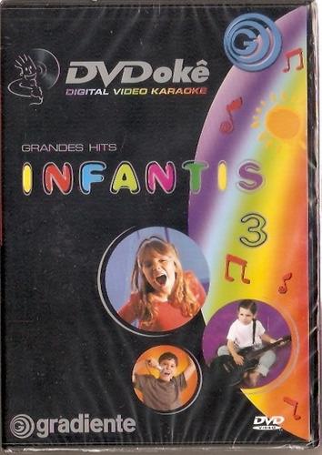 dvd dvdokê - grandes hits infantis 3 - novo***