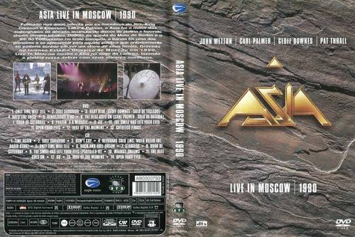 dvd e cd asia  live in moscow 1990  perfeito estado