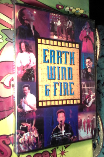 dvd earth wind & fire live lacrado original raro epoca 1995