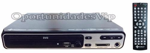 dvd ecosmart reproductor cd mp4 sd, mp3 pen drive