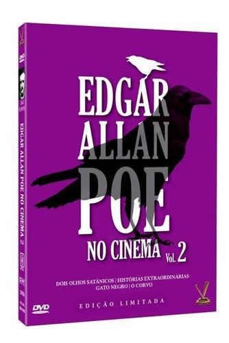 dvd edgar allan poe no cinema vol.2  box 2 dvds, 4 filmes +