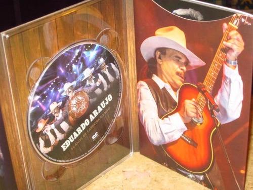 dvd eduardo araujo - 50 anos ao vivo (2015) c/ sergio reis