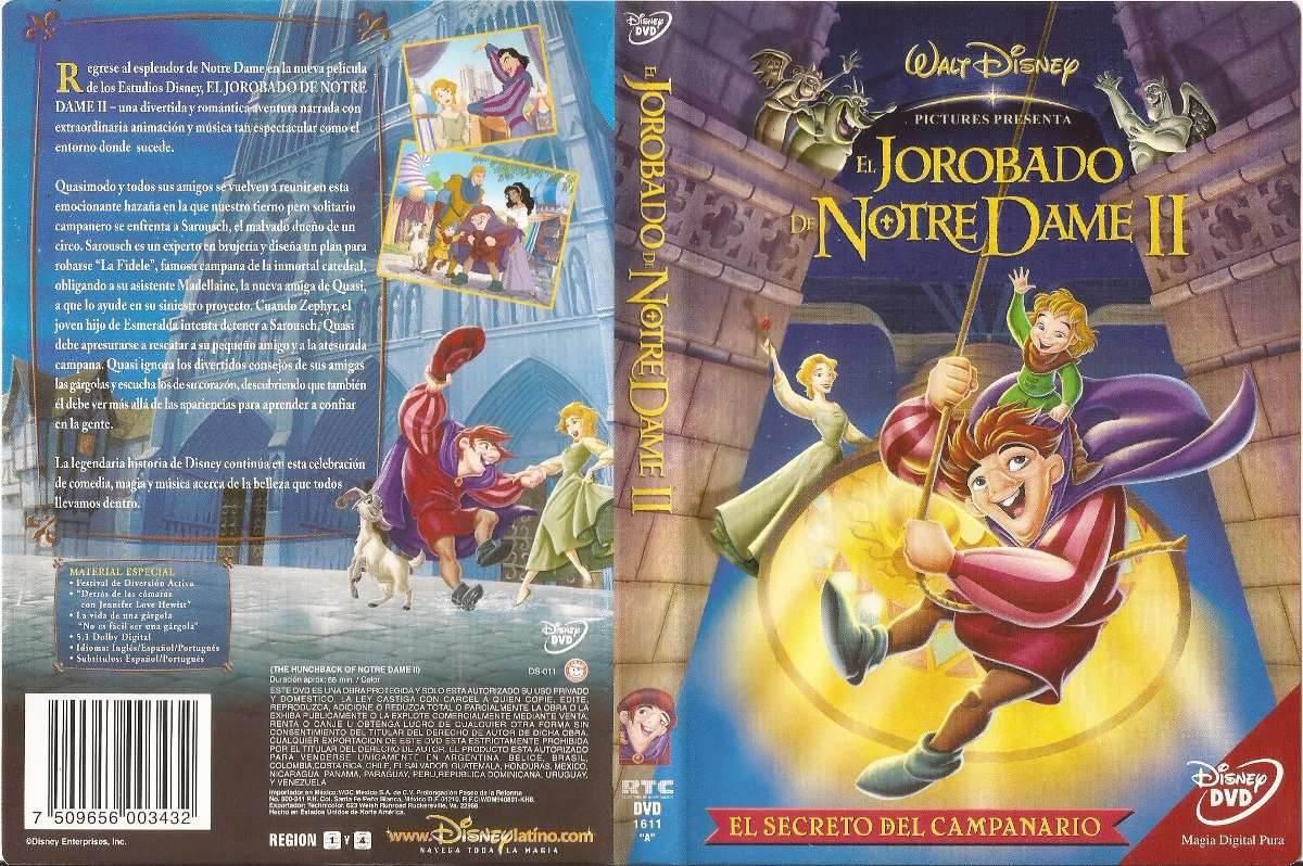 3d167ba28 Dvd - El Jorobado De Notre Dame Ii: El Secreto De La Campana - $ 450 ...