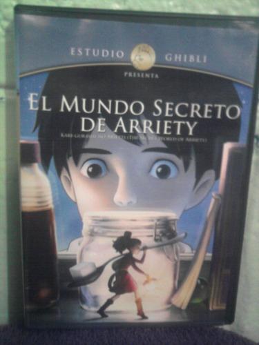 dvd el mundo secreto de arriety ghibli anime caricaturas
