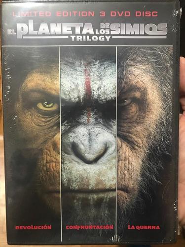 dvd el planeta de los simios / planet of the apes / 3 films